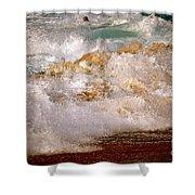 Sunset Beach Splash Shower Curtain