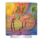 Shorebirds Shower Curtain