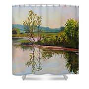 Shoreline At Evening Shower Curtain