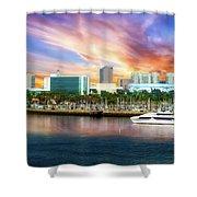 Shoreline Long Beach Ca 09 Shower Curtain