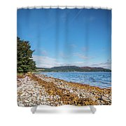 Shoreline On The Kyles Of Bute Shower Curtain