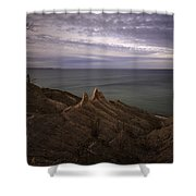 Shoreline Sentries Shower Curtain