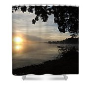 Shoreline Sunrise Shower Curtain