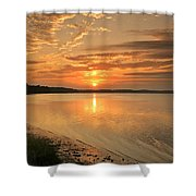 Shoreline Sunset Shower Curtain