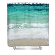 Shorelines IIi Shower Curtain by Charmian Vistaunet