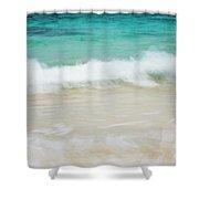 Shorelines Iv Shower Curtain by Charmian Vistaunet