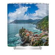 Shores Of Cinque Terre Shower Curtain