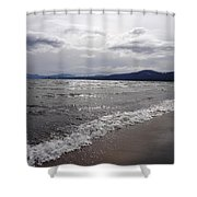 Shores Of King's Beach Lake Tahoe Shower Curtain