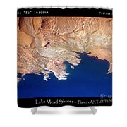 Shores Of Lake Mead Planet Art Shower Curtain