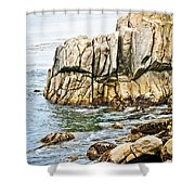 Shores Of Pebble Beach Shower Curtain