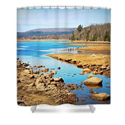 Shores Of The Allain Shower Curtain