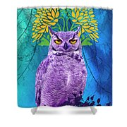Owl At Night Shower Curtain