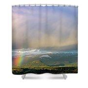 Short Rainbow Shower Curtain
