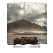 Short Sands Misty Day Shower Curtain