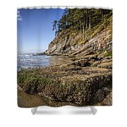 Short Sands Rocks Shower Curtain