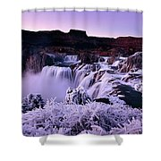 Shoshone Falls In Winter Shower Curtain