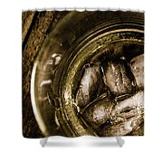 Shot Of Whisky On The Rocks Shower Curtain