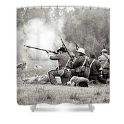 Shots Fired Civil War Shower Curtain
