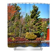 Shoul Point Lighthouse - Old Forge Shower Curtain