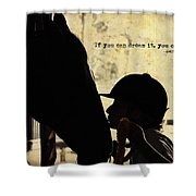Show Success Quote Shower Curtain