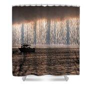 Shower Of Fireworks Shower Curtain