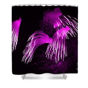 Showers Of Pink Color Splash With Firework  Shower Curtain
