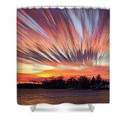 Shredded Sunset Shower Curtain