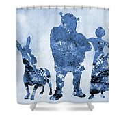 Shrek Blue Shower Curtain