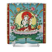 Shri Saraswati - Goddess Of Wisdom And Arts Shower Curtain