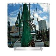 Shrimp Boat Back Shower Curtain