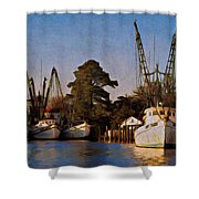 Shrimp Boat Fleet Georgetown Sc Shower Curtain