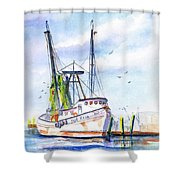 Shrimp Boat Gulf Fishing Shower Curtain
