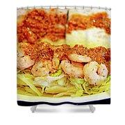 Shrimp Po-boy Shower Curtain