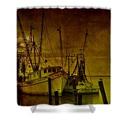 Shrimpboats In Apalachicola  Shower Curtain