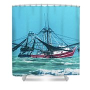 Shrimping On A Windy Day In Key West Shower Curtain