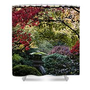 Shrine In Watercolors Shower Curtain