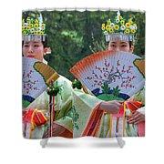 Shrine Maidens From Tsurugaoka Hachimangu Shrine Shower Curtain