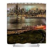 Shrouded City 5255 Shower Curtain