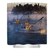 Shrouded In Morning Sea Smoke Shower Curtain