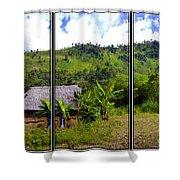 Shuar Hut In The Amazon Shower Curtain