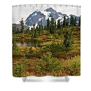 Shuksan Autumn Shower Curtain