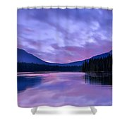 Shunda Lake At Dawn Shower Curtain