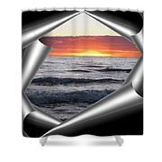 Shutter-view Shower Curtain