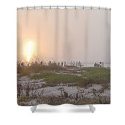 Shuttle Launch Shower Curtain