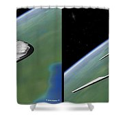 Shuttle X-2010 - Gently Cross Your Eyes And Focus On The Middle Image Shower Curtain