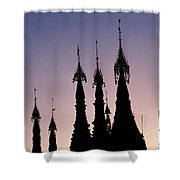 Shwedagon Pagodas Shower Curtain