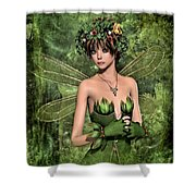 Shy Fairy Shower Curtain