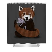 Shy Red Panda Shower Curtain