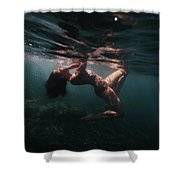 Shyness Shower Curtain