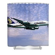 Sia A380 9v-ska Shower Curtain
